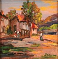 City And Town - Mountain Village - Oil