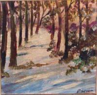 Landscapes - Winter Woods - Oil