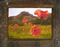Landscape - Mountain Poppies Wd - Oil