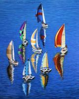 Morning Reflections - Acrylic On Canvas Paintings - By Jane Girardot, Realism Painting Artist