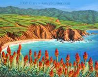 Seascapes - San Mateo Springtime - Acrylic On Canvas