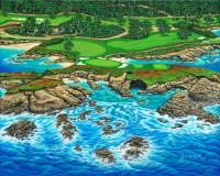 Seascapes - Pebble Beach 15Th Hole-North - Acrylic On Canvas
