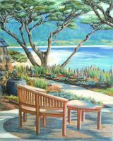 Seascapes - Carmel Lagoon View - Watercolor