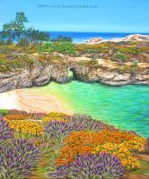 China Cove Paradise - Acrylic On Canvas Paintings - By Jane Girardot, Realism Painting Artist