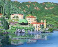 Lake Como Morning - Acrylic On Canvas Paintings - By Jane Girardot, Realism Painting Artist