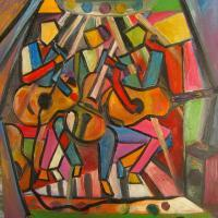 Abstract - The Musicians - Oil
