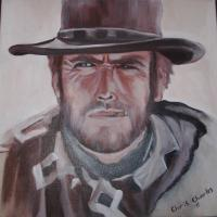 Some Of My Canvas Artwork - The Man With No Name - Acrylics