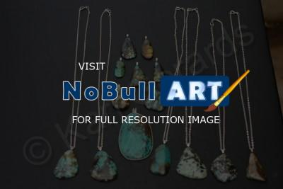 Stones - Unusual Assort Turquoise Pieces - Natural Stones