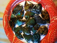 Natures Stones - Turquoise In Matrix Pendants   Stone Unadultered - Natural Stones