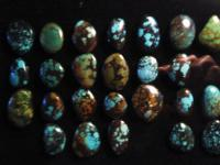 Natures Stones - Adjustable Rings  W Turquoise In Matrix - Natural Stones