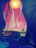Surreal - Rhapsody Of Blues - Oil Colour On Canvas