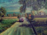 Landscape - The Road To Serenity - Oil Colour And Car Paint On Ca