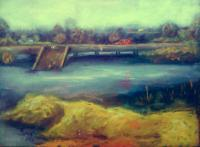 Apcon Bridge - Oil Colour On Canvas Paintings - By Chukwuemeka Iheonunekwu, Realism Painting Artist