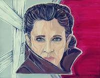 Celebrities - Leia Organa - Carrie Fisher - Acrylics