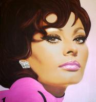 Sixties - Sophia Loren - Sixties - These Oil Paintings Are Origin