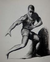 Pen And Ink Drawings - Pose - Pen And Ink