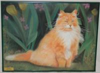 Animals - Waiting Cat - Pastel Chalk