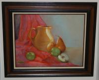 Still Life - Still Life Apples And Peaches - Oil Paint