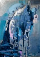 About My Work And My Art - Navyblue Abstract Cm30X40Oils2012 - Oil On Canvas