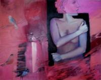 About My Work And My Art - Nude With Birds 2012 - Oil On Canvas