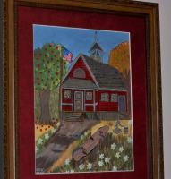 Acrylics Paintings With Or Wo - Little Red School House - Acrylic