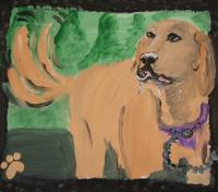 Dog Pictureschildrens Book - Untitled - Acrylic On Canvas