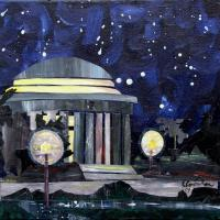Acrylic - Jefferson Memorial - Collage