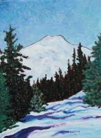 Acrylic - North Sister - Acrylic On Canvas