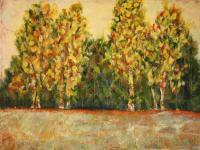 Acrylic - Fall Trees 1 - Acrylic On Canvas