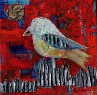 Collage - Bird 1413 - Mixed Media