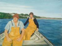 Private - Ardmore Fishermen - Oils On Canvas