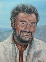 Artists Collection - Eli Wallach As Tuco - Oils On Canvas