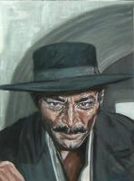 Artists Collection - Lee Van Cleef As Angel Eyes - Oils On Canvas