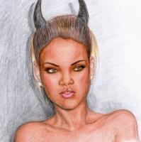 Portraits - Illuminati Rihanna - Pencils