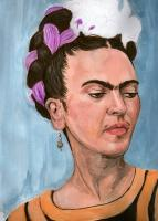 Paintings - Frida - Gouache