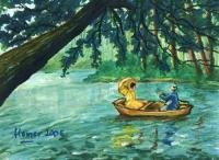 Return Journey - Oil Pastels Paintings - By Homer Fernandez, Impressionism Painting Artist