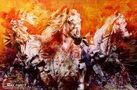 Horse  Abstract Art - Digialphotoshop Digital - By Raju Arya, Abstract Art Digital Artist