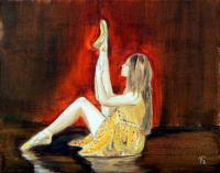 Original Oil Paintings - Warm Up - Oil On Canvas