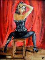 Original Oil Paintings - Cabaret - Oil On Canvas