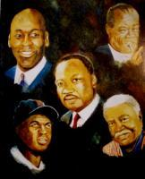 Portrait - 5 Men In Black History - Oils