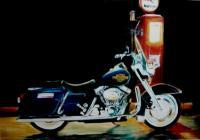 My Art - Harley Davidson And Mobilgas - Oils