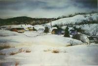 Landscapes - Christmas Village - Watercolor