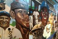Mural - White Sox Negro League Metra Mural Project - Acrylic