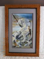 Christy Gradjean Artwork Matted  Framed-15 - Wood Woodwork - By Larry Niekamp, Framing Woodwork Artist