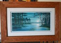 Jerry Raedeke Artwork Matted  Framed-22 - Wood Woodwork - By Larry Niekamp, Framing Woodwork Artist