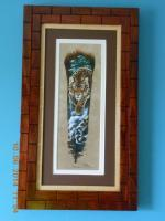 Sandra Santara Artwork Matted  Framed 147 - Wood Woodwork - By Larry Niekamp, Framing Woodwork Artist