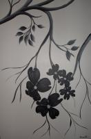 Black And White - Dogwood Darling 3 - Acrylic