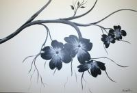 Black And White - Dogwood Darling 9 - Acrylic