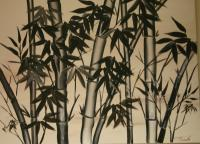 Black And White - Bamboo - Acrylic