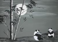 Black And White - Happy Holiday - Acrylic